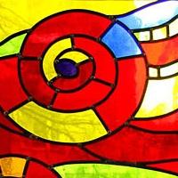 2005至2008年间的4件彩色玻璃作品