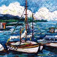 Côte d'Azur (Huile sur toile)