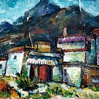Tibet (Huile sur toile)
