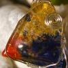 Pendentif en verre fusing et fil argent 925